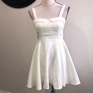 Off white skater skirt dress